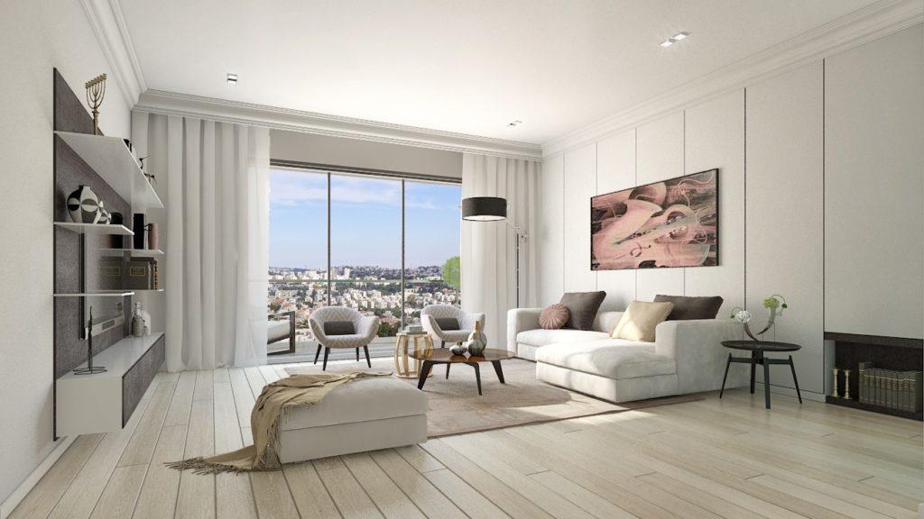 הדמיה של דירה בפרויקט